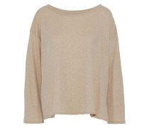 Mélange Cotton And Cashmere-blend Top Mushroom  /S
