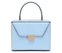 Leather Tote Sky Blue Size --