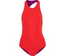 Sheridan Open-back Swimsuit Tomato Red