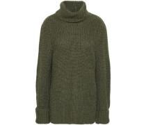 Erwan Ribbed-knit Alpaca-blend Turtleneck Sweater Army Green