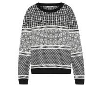 Woman Merino Wool-blend Jacquard Sweater Black