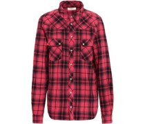 Checked Cotton-flannel Shirt Red Size 0