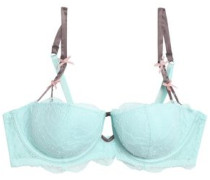 Cle Damour lace and stretch-tulle balconette bra
