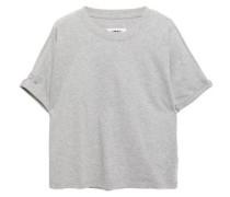 Woman Cold-shoulder Cotton-jersey T-shirt Stone
