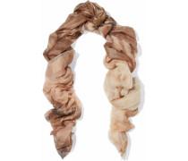Metallic printed cashmere scarf