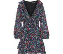 Jodie Floral-print Silk-georgette Mini Dress Multicolor
