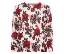 Melanie floral-print cashmere sweater