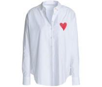 Embroidered cotton-poplin shirt