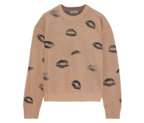Wool-blend Jacquard Sweater Sand