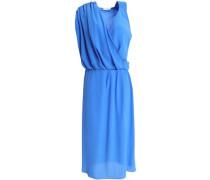 Draped silk-crepe dress