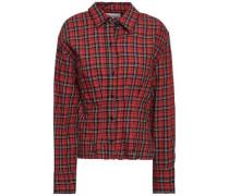 Checked Cotton Shirt Claret Size 0