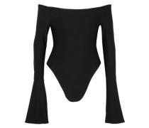 Off-the-shoulder stretch-jersey bodysuit