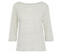 Slub Stretch-linen Jersey Top Light Gray