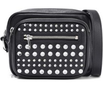 Studded Leather Shoulder Bag Black Size --