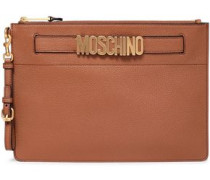 Textured-leather Pouch Light Brown Size --