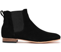 Troy Suede Ankle Boots Black