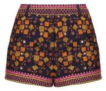 Sharlen sequin-embellished embroidered cotton-gauze shorts