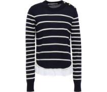 Striped Merino Wool Sweater Navy