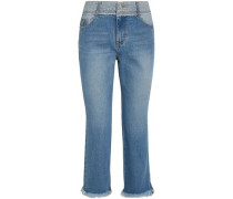 Cropped Mid-rise Straight-leg Jeans Mid Denim