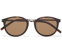 Woman Round-frame Tortoiseshell Acetate Sunglasses Animal Print
