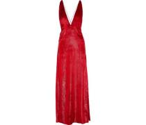 Alexandra Metallic Velvet Gown Red Size 12