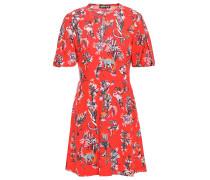 Woman Jessie Floral-print Woven Mini Dress Red