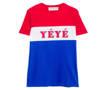 Woman Yeye Girls Printed Cotton-jersey T-shirt Red