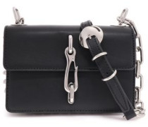 Spiked Leather Shoulder Bag Black Size --