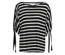 Jude Striped Stretch-jersey T-shirt Black
