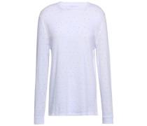 Embellished Cotton-blend Top White