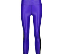 Dynamic Duo cropped coated stretch leggings