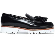 Tasseled leather loafers