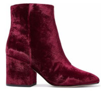 Taye crushed-velvet ankle boots