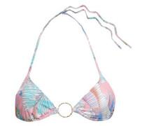 Printed Triangle Bikini Top Baby Pink