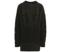 Woman Cable-knit Cashmere Sweater Forest Green