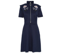 Zoey Embroidered Scuba Mini Dress Navy