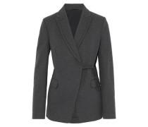 Bead-embellished cotton-blend jersey blazer
