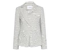 Crinkled striped twill jacket