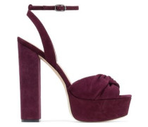 Claudette twisted suede platform sandals