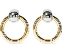 Silver And Gold-tone Earrings Silver Size --