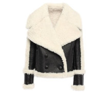 Double-breasted Shearling Jacket Black