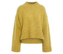 Mélange Knitted Sweater Mustard