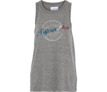 The Easy Muscle Printed Jersey Tank Gray
