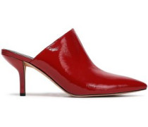 Mikalia Patent-leather Mules Claret