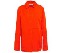 Woman Gabardine Jacket Orange