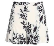 Floral-print Crepe Shorts Black