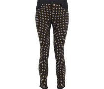 Kirk Cropped Studded Mid-rise Skinny Jeans Black  5