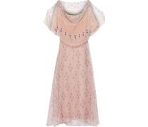 Draped Printed Silk-georgette Midi Dress Blush