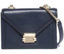 Whitney Studded Leather Shoulder Bag Navy Size --