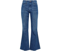 High-rise Denim Flared Jeans Mid Denim  5